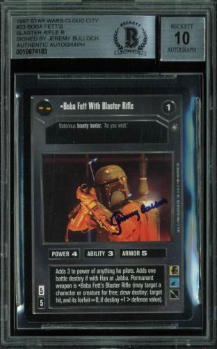 Jeremy Bulloch Signed 1980 Star Wars #23 Card Auto Graded Gem 10! BAS Slabbed