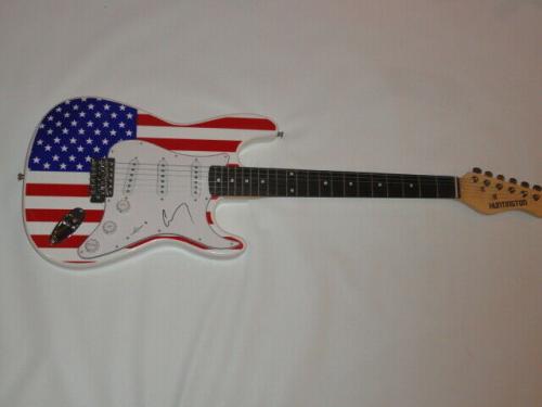 Corey Taylor Signed Usa Flag Electric Guitar Slipknot Stone Sour Legend Jsa Coa