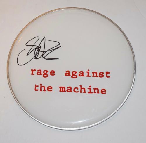 "Brad Wilk Signed Autograph 12"" Drumhead RAGE AGAINST THE MACHINE AUDIOSLAVE COA"