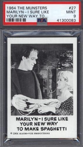 1964 Leaf The Munsters #27 Marilyn PSA 9 pop 19 (Only 1 Higher) *688065