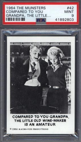 1964 Leaf The Munsters #42 Compared To You Grandpa PSA 9 pop 17 (Only 1 Higher)