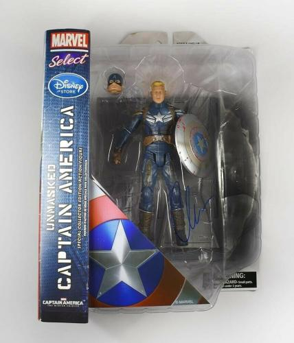 Chris Evans Captain America Avengers Endgame Auto Signed Action Figure PSA/DNA