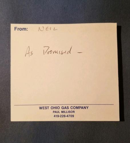 Neil Armstrong Autograph Apollo 11 Signed Personal  Note JSA AUTHENTIC AUTO NASA