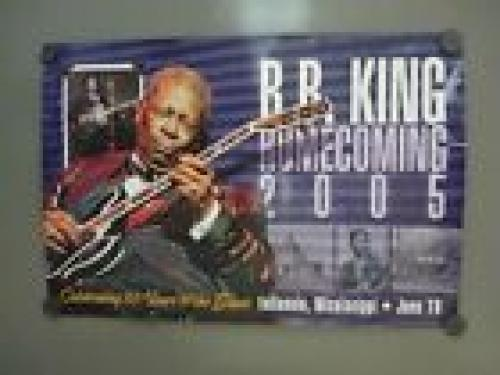BB King Signed Autographed 18x28 2005 Concert Poster PSA BAS Guaranteed #1 READ