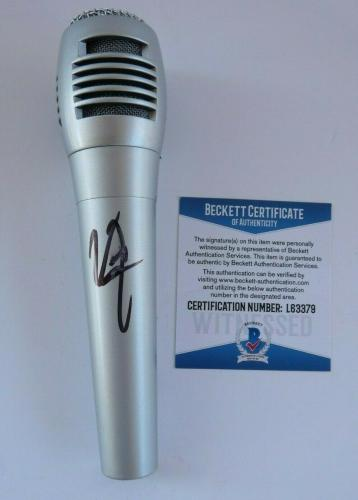 Vince Neil Motley Crue Signed Autographed Microphone Beckett Certified