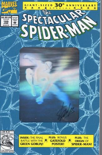 STAN LEE SIGNED 30th ANNIVERSARY SPIDER-MAN COMIC BOOK  BLUE HOLOGRAM COVER  JSA