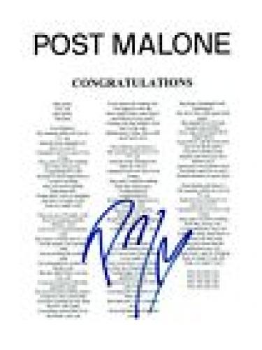 Autographed Post Malone Memorabilia: Signed Photos & Other Items