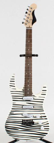 Black and White Zebra Style Electric Guitar