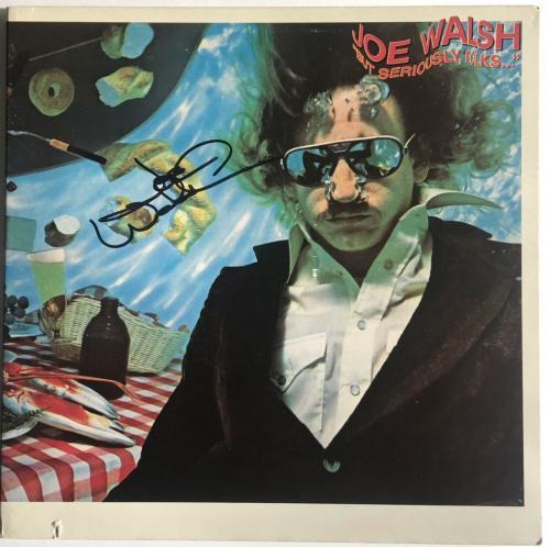 Joe Walsh signed album but seriously folks lp james gang the eagles beckett coa