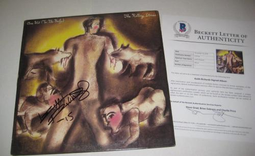 KEITH RICHARDS (Rolling Stones) Signed ONE HIT to the Body LP w/ Beckett LOA