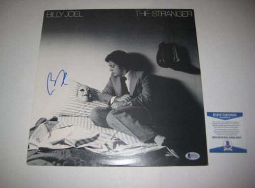 BILLY JOEL Signed THE STRANGER LP COVER w/ Beckett COA