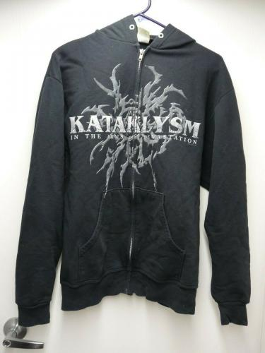 Kataklysm Band REAL Crew Tour Issued Pullover Sweatshirt Jacket Hoodie MED SS1