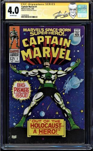 Captain Marvel #1 Cgc 4.0 Ss Stan Lee,  2nd App Of Carol Danvers Cgc #1203829024