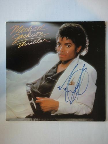 Michael Jackson Thriller Signed Album Beckett (bas) Certified Autograph Rare!