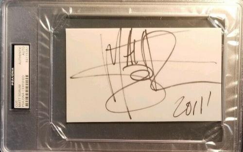 Matt Sorum Guns N Rose's Drummer Signed PSA/DNA AUTHENTIC AUTOGRAPH