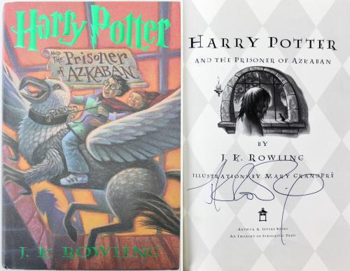 J.K. Rowling Signed The Prisoner of Azkaban 1st Edition Book JSA #BB03075