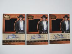 (3) Tracy Lawrence 2014 Panini Country Music Silhouettes Autograph Card #'d /348