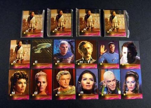 Lot of (5) 1999 Skybox Star Trek TOS Season 3 Autograph Challenge Set (12) Nm/Mt
