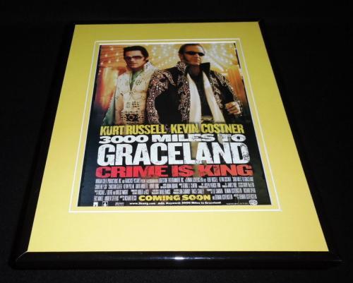3000 Miles to Graceland 2001 Framed 11x14 ORIGINAL Advertisement Kurt Russell