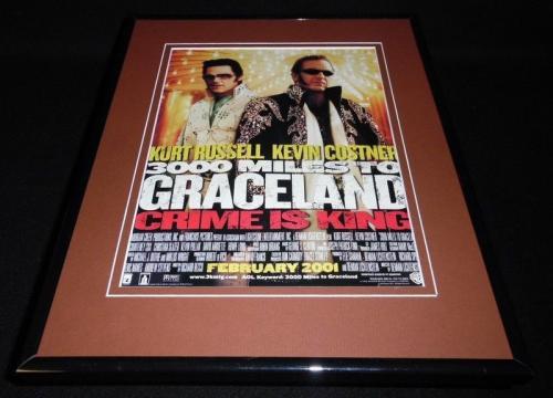 3000 Miles to Graceland 2001 Framed ORIGINAL Vintage Advertisement Kurt Russell
