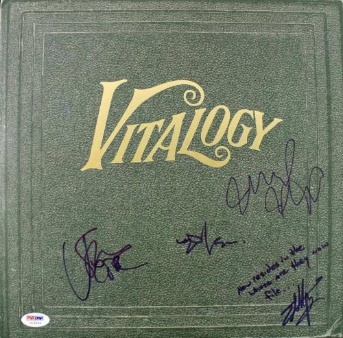 Pearl Jam (5) Vedder, Ament, Gossard, Mccready +1 Signed Album Cover PSA #U03494