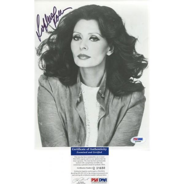 Sophia Loren Autographed 8x10 Photo PSA