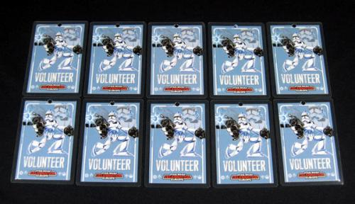 Lot of (10) 2007 Star Wars Celebration Europe Volunteer Badge ^ Stormtrooper