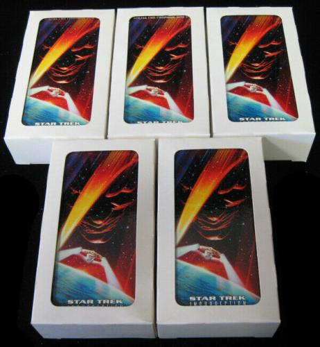 Lot of (5) 1996 Skybox Star Trek First Contact Trading Card Set (60) NM/MT