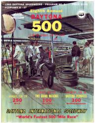 "Canvas 36"" x 48"" 8th Annual 1966 Daytona 500 Program Print - Mounted Memories"
