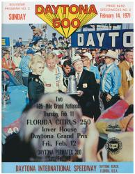 "Canvas 36"" x 48"" 13th Annual 1971 Daytona 500 Program Print - Mounted Memories"
