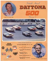 "Canvas 36"" x 48"" 16th Annual 1974 Daytona 500 Program Print - Mounted Memories"