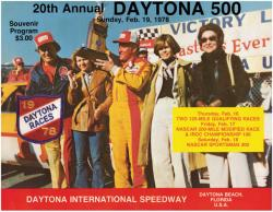 "Canvas 36"" x 48"" 20th Annual 1978 Daytona 500 Program Print - Mounted Memories"