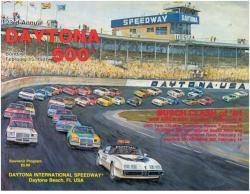 "Canvas 36"" x 48"" 23rd Annual 1981 Daytona 500 Program Print - Mounted Memories"