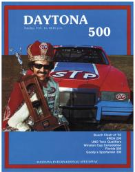 "Canvas 36"" x 48"" 24th Annual 1982 Daytona 500 Program Print - Mounted Memories"