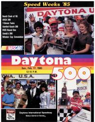 "Canvas 36"" x 48"" 27th Annual 1985 Daytona 500 Program Print - Mounted Memories"