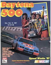 "Canvas 36"" x 48"" 29th Annual 1987 Daytona 500 Program Print - Mounted Memories"