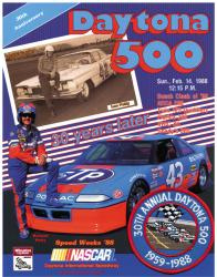 "Canvas 36"" x 48"" 30th Annual 1988 Daytona 500 Program Print - Mounted Memories"