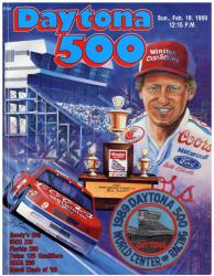 "Canvas 36"" x 48"" 31st Annual 1989 Daytona 500 Program Print - Mounted Memories"