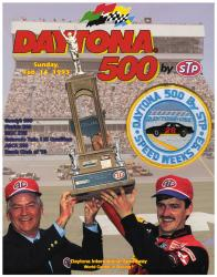 "Canvas 36"" x 48"" 35th Annual 1993 Daytona 500 Program Print - Mounted Memories"