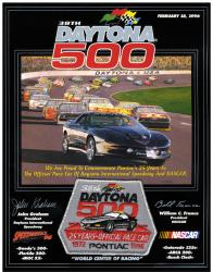 "Canvas 36"" x 48"" 38th Annual 1996 Daytona 500 Program Print - Mounted Memories"