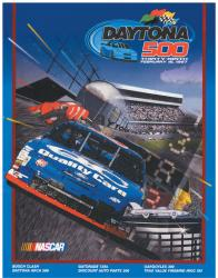 "Canvas 36"" x 48"" 39th Annual 1997 Daytona 500 Program Print - Mounted Memories"