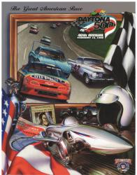 "Canvas 36"" x 48"" 40th Annual 1998 Daytona 500 Program Print - Mounted Memories"