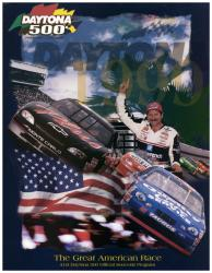 "Canvas 36"" x 48"" 41st Annual 1999 Daytona 500 Program Print - Mounted Memories"