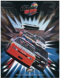 "Canvas 36"" x 48"" 42nd Annual 2000 Daytona 500 Program Print - Mounted Memories"
