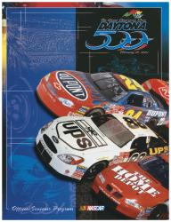 "Canvas 36"" x 48"" 43rd Annual 2001 Daytona 500 Program Print"