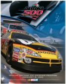 "Canvas 36"" x 48"" 45th Annual 2003 Daytona 500 Program Print - Mounted Memories"