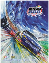 "Canvas 36"" x 48"" 49th Annual 2007 Daytona 500 Program Print - Mounted Memories"