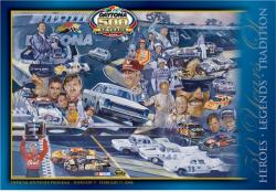 "Canvas 36"" x 48"" 50th Annual 2008 Daytona 500 Program Print - Mounted Memories"
