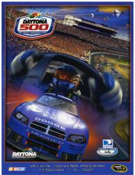 "Canvas 36"" x 48"" 51st Annual 2009 Daytona 500 Program Print - Mounted Memories"