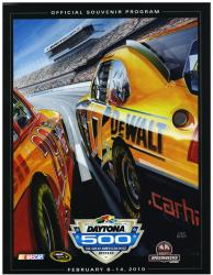 "Canvas 36"" x 48"" 52nd Annual 2010 Daytona 500 Program Print - Mounted Memories"